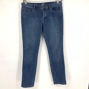 Ann Taylor jeans slim boyfriend skinny button fly